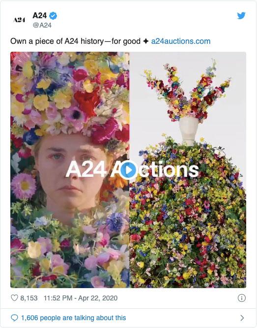 『ミッドサマー』のお花ドレスなどがオークションに!新鋭スタジオA24がNYのコロナ対策支援