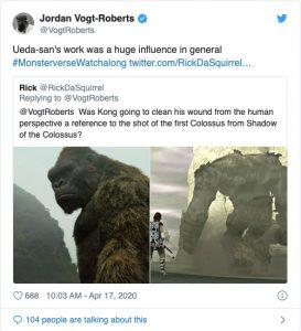 エヴァ、ポケモンをオマージュ!? 『キングコング: 髑髏島の巨神』監督がファンからの質問にズバリ答えた!!