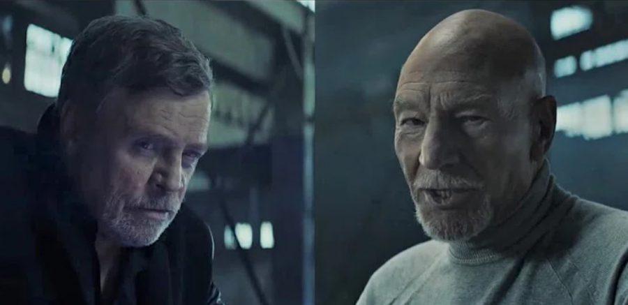 『スター・ウォーズ』VS『スター・トレック』!? マーク・ハミルとパトリック・スチュワートがCMで夢の共演!
